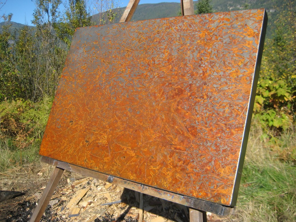 Rusted Tin Walls : Metal artist rusted art wall by danno
